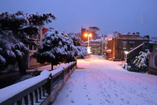 Snow fall at shimla