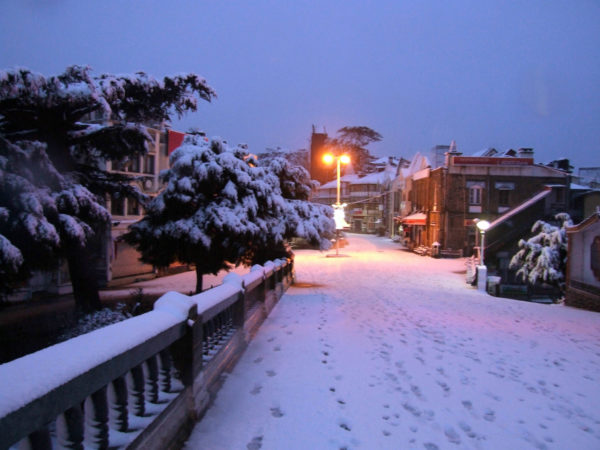 Snow fall at shimla