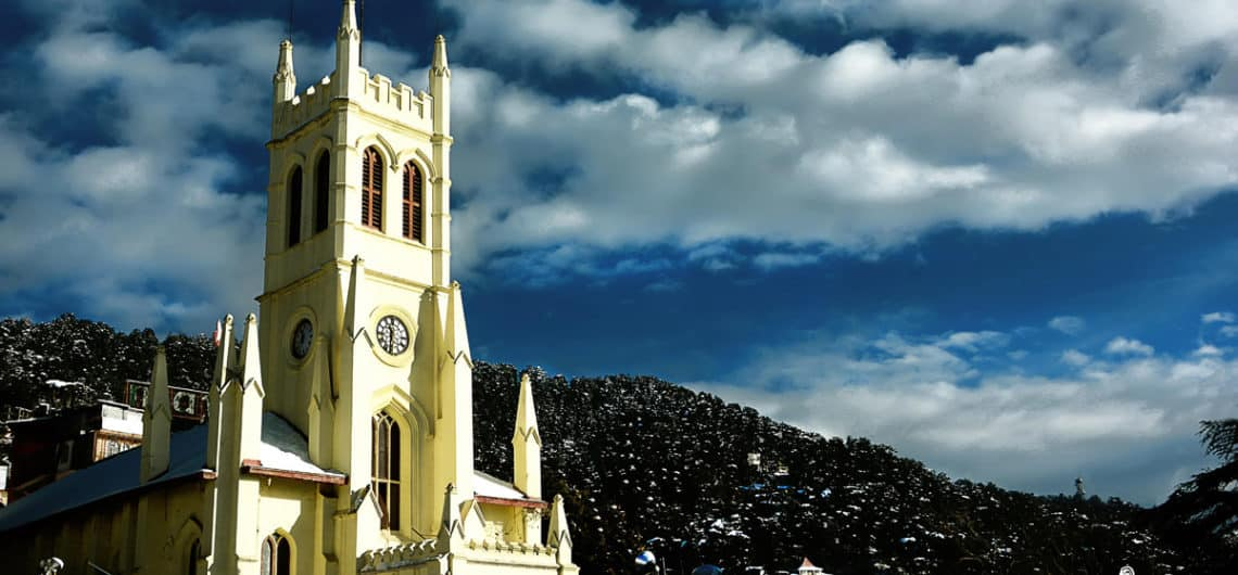 church at rijj shimla