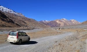 losar village at himachal trekking