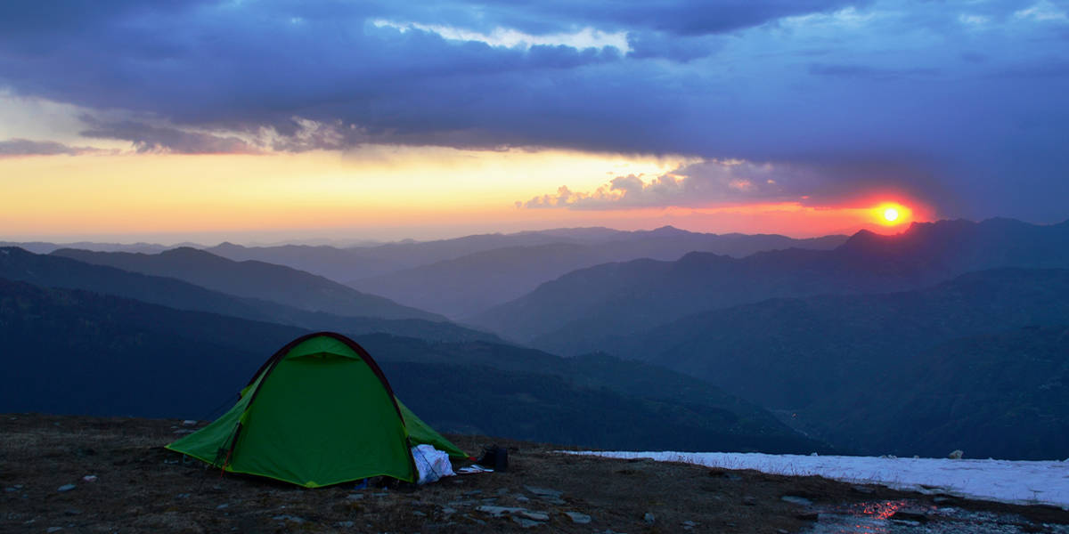 chanshal sunset view review of himalayan footslog