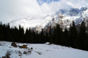 Simir Thach on the way to chandernahan snow trek