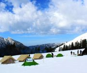 Chandernahan Snow trekking at Shimla