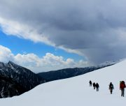 Chandernahan snow trekking at himachal