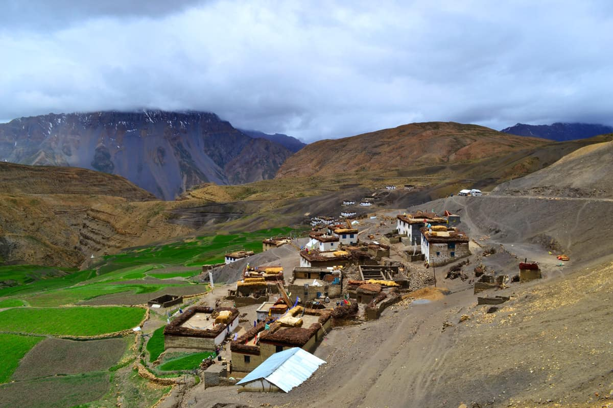 Spiti valley Hikkim Village