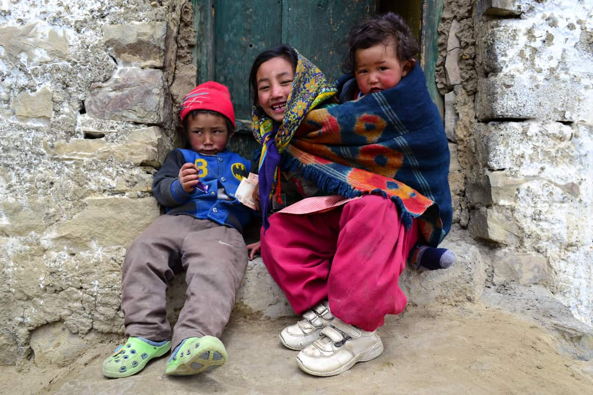 spiti valley tour Hikkim Village Kids